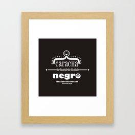 Caracha Negro Framed Art Print