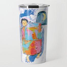 Sleeping and dreaming illustration, design for children Travel Mug