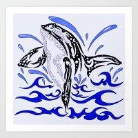 Tribal Orca Art Print