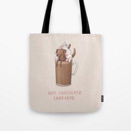 Hot Chocolate Labrador Tote Bag