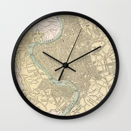 Vintage Map of Rome Italy (1901) Wall Clock