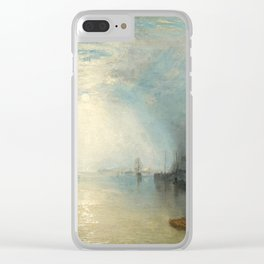 "J.M.W. Turner ""Keelmen Heaving in Coals by Moonlight"" Clear iPhone Case"