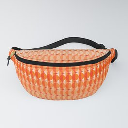 Leaves at sunset - a pattern in orange and red Fanny Pack