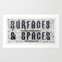 Surfaces & Spaces Art Print