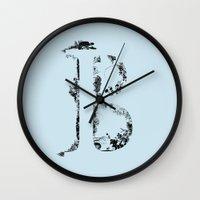 font Wall Clocks featuring B FONT by RLRL