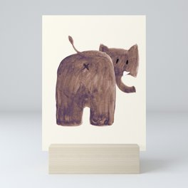 Elephant's butt Mini Art Print
