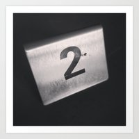 number Art Prints featuring Number 2 Table Number by Redhedge Photos
