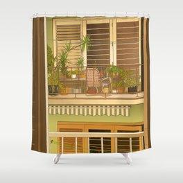 Balcony View in Cuba Shower Curtain