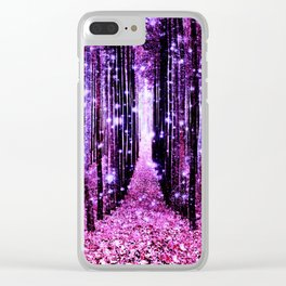 Magical Forest Pink & Purple Clear iPhone Case