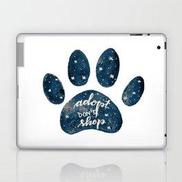 Adopt don't shop galaxy paw - blue Laptop & iPad Skin