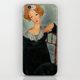 "Amedeo Modigliani ""Woman with Red Hair"" (1917) iPhone Skin"