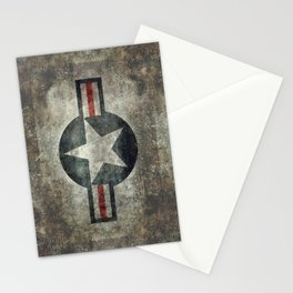 US Air force style insignia V2 Stationery Cards