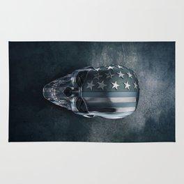 American Flag Skull Rug