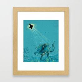 Kite Manta Framed Art Print