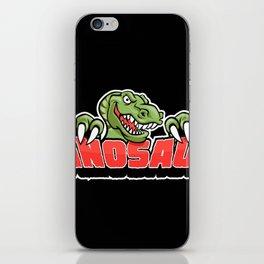 dinosaur mascot. iPhone Skin