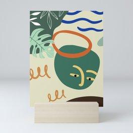 Minimal Contemporary Wall Art Affiche de formes abstraites Leaf Face Art Print Mini Art Print