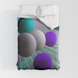 converging lines and balls -4- Comforters