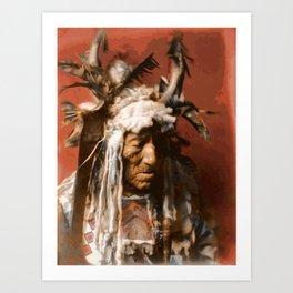 Lean Wolf - Hidatsa - American Indian Art Print