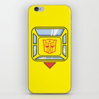 transformers iPhone & iPod Skins featuring Transformers - Bumblebee by CaptainLaserBeam