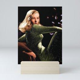 Classic Veronica Lake Portrait in Green - Jeanpaul Ferro Mini Art Print