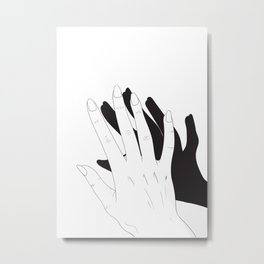 Hand Shadow Metal Print