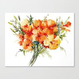 Californian Poppies, California Floral art soft colors Canvas Print