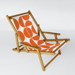 Mid Century Modern Geometric 04 Orange Sling Chair