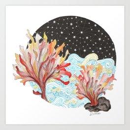 Starry Coral Art Print