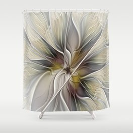 Floral Abstract, Fractal Art Shower Curtain