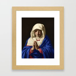 The Virgin in Prayer by Giovanni Sassoferrato (c. 1645) Framed Art Print