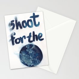 Shoot for the moon. Stationery Cards