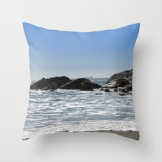 Cornishseascapes Gunwalloe 01 Throw Pillow