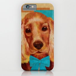 Cocker Spaniel puppy Knitted Style iPhone Case