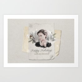 OUAT HAPPY HOLIDAYS // Blue Fairy Art Print
