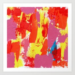 Abstract Expression #7 by Michael Moffa Art Print