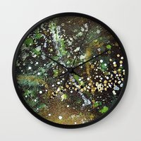 camo Wall Clocks featuring Camo by Art Book Of  Amanda