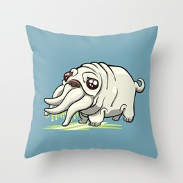 Pugthulhu Throw Pillow