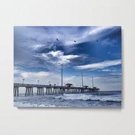 Jennette's Pier at Dusk, Nags Head, North Carolina, Outer Banks OBX  Metal Print