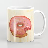 donut Mugs featuring Donut by colorlabo