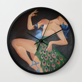 Pretending to be a Peacock (after Bergey) Wall Clock