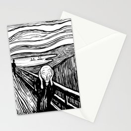 Edvard Munch The Scream 1895 Lithograph Reproduction Artwork for Prints Posters Tshirts Men Women Ki Stationery Cards