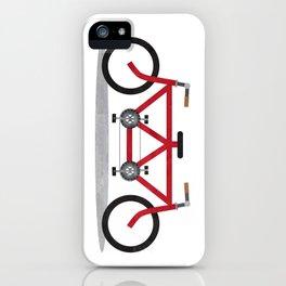 Broken Teamwork Tandem Bicycle iPhone Case