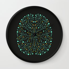 Brain Tech Wall Clock