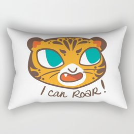Baby Big Cats Roaring Tiger Rectangular Pillow