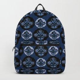 Blue Folklore Floral Backpack