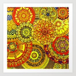 Mandala Life-explosion Art Print