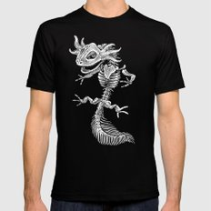 Axolotl Skeleton Black Mens Fitted Tee MEDIUM
