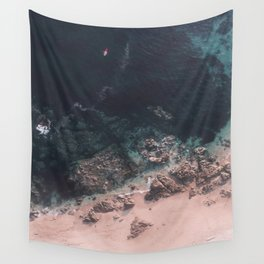 Red Canoe Wall Tapestry