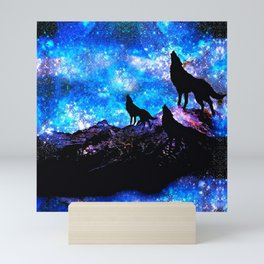 Wolf Trio Mini Art Print