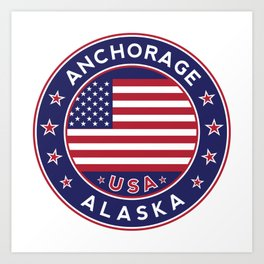 Anchorage, Alaska Art Print